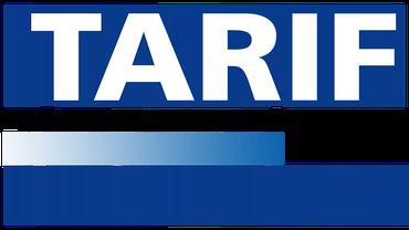 Blaues Logo mit Schrift Tarif