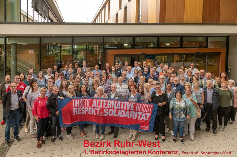 Teilnehmer Bezirksdelegiertenkonferenz Ruhr-West