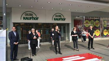 Protestaktion Galeria Karstadt Kaufhof