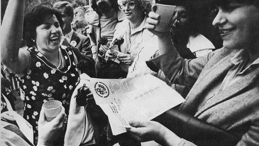 Frauen haben für gerechten Lohn gekämpft