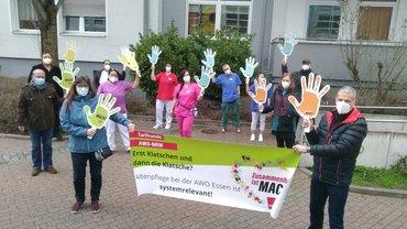 AWO-Aktion Essen-Holsterhausen für starken Tarifvertrag