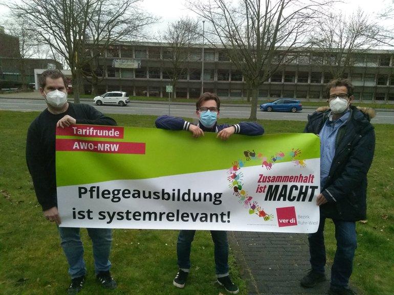 AWO-Aktion in Oberhausen für starken Tarifvertrag